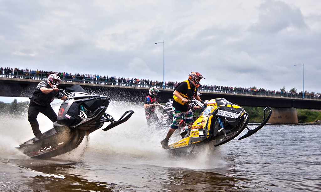Watercross competition in Lapland, Finland