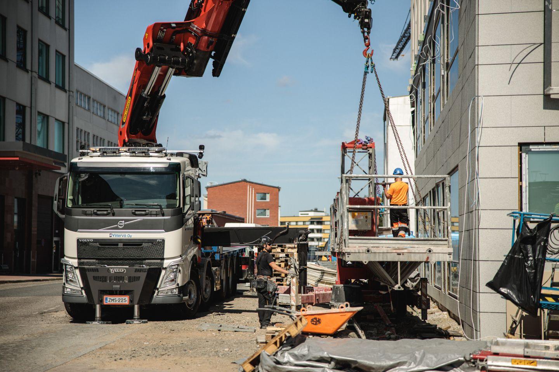 Construction site in Rovaniemi