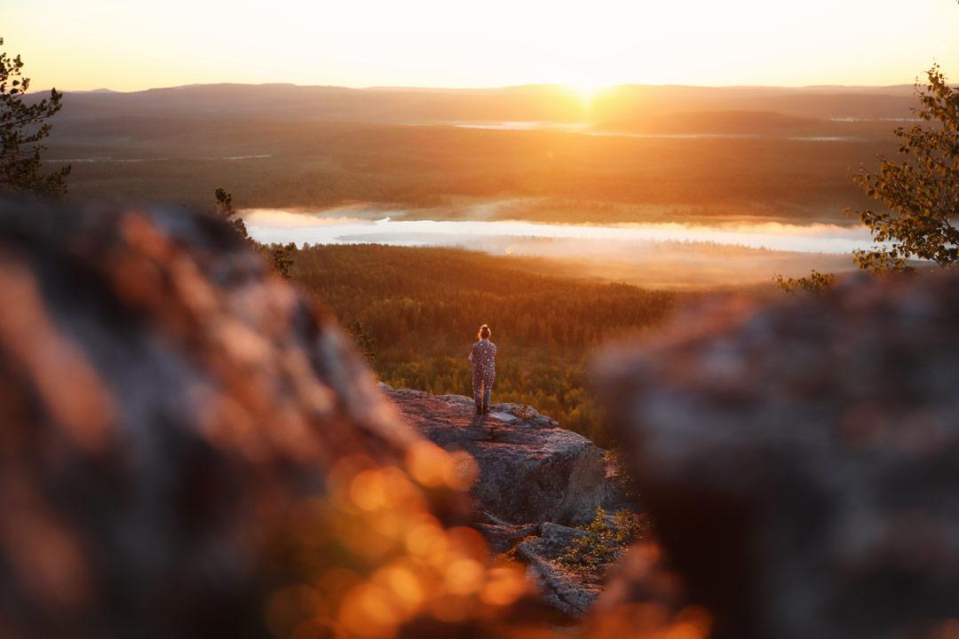 Midnight-sun-in-Lapland