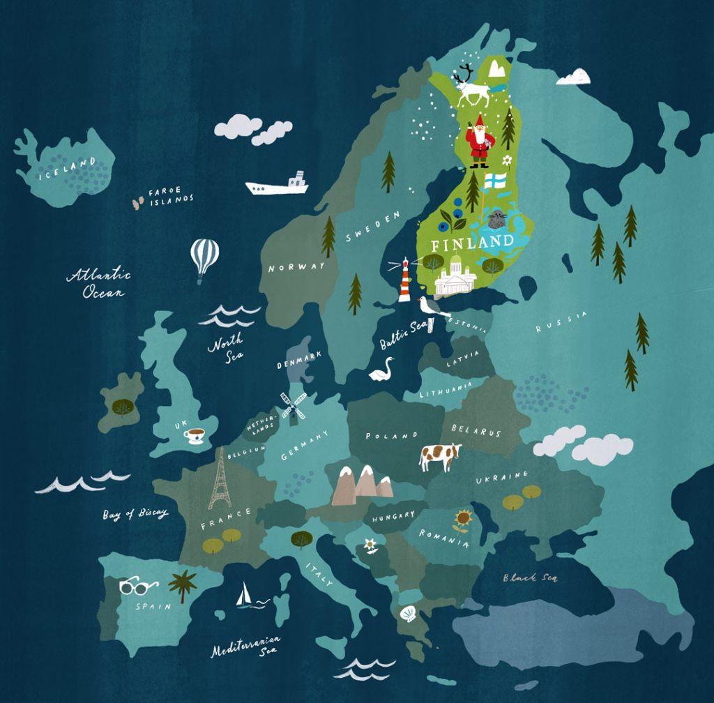 Land-of-midnight-sun-map