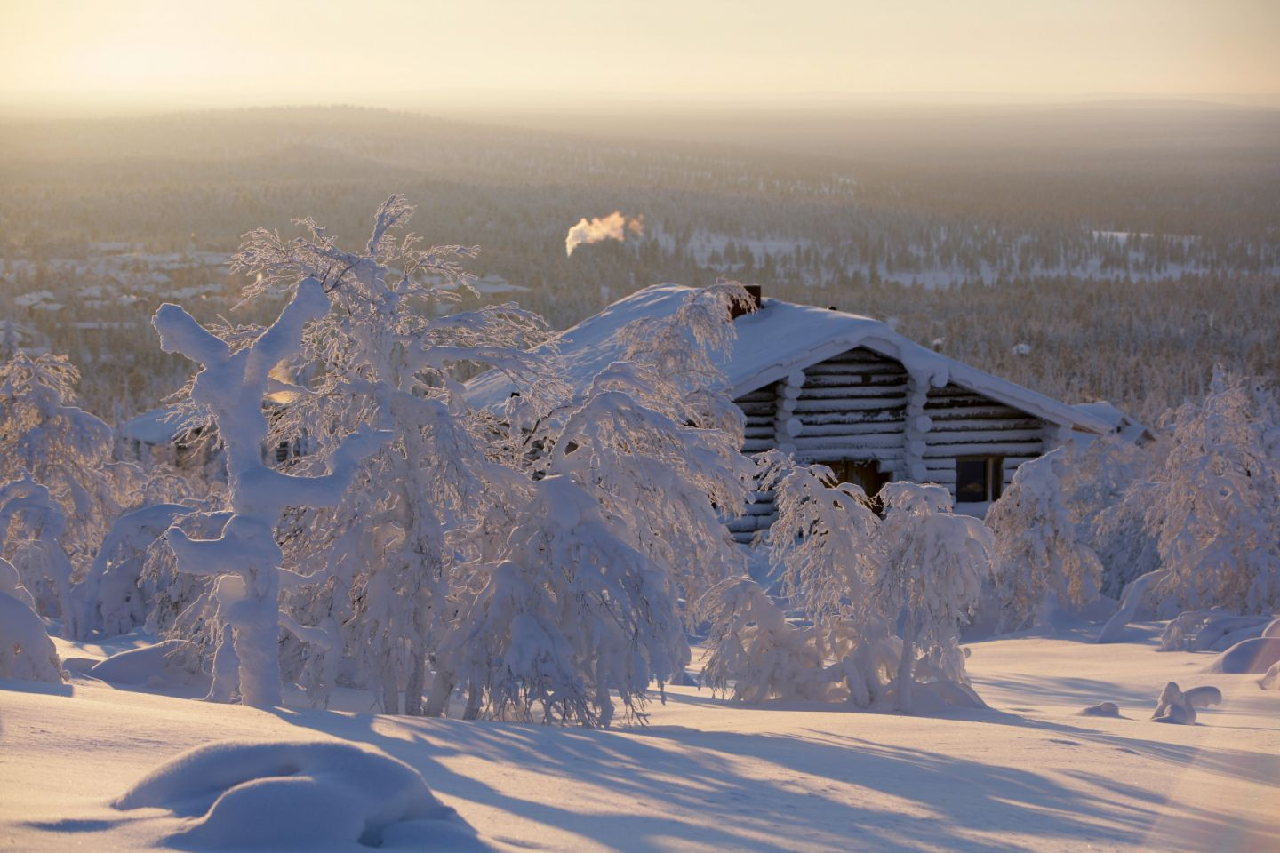 A snowy winter day in Finnish Lapland