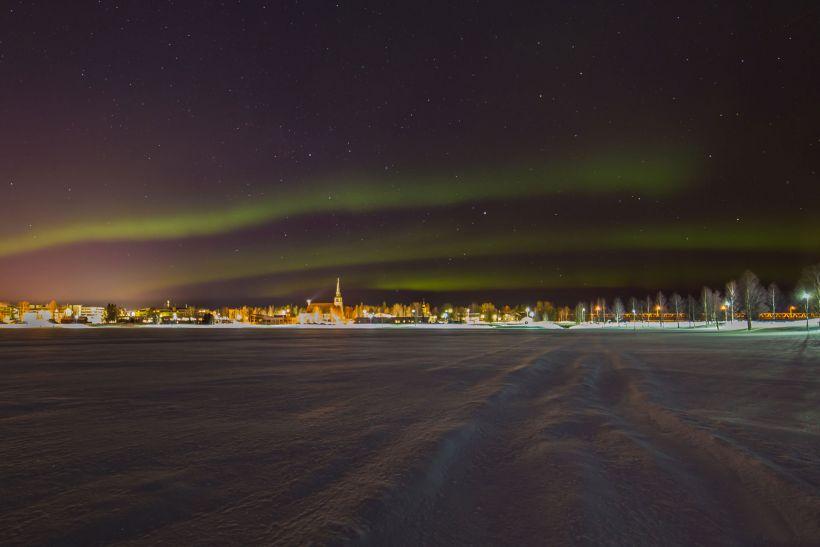 Lake Kemijärvi in Lapland, Finland