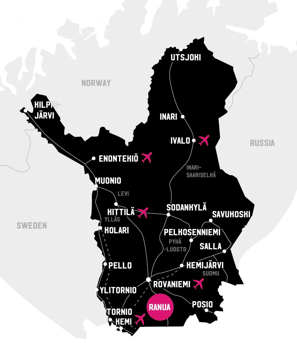 Map Lapland Ranua