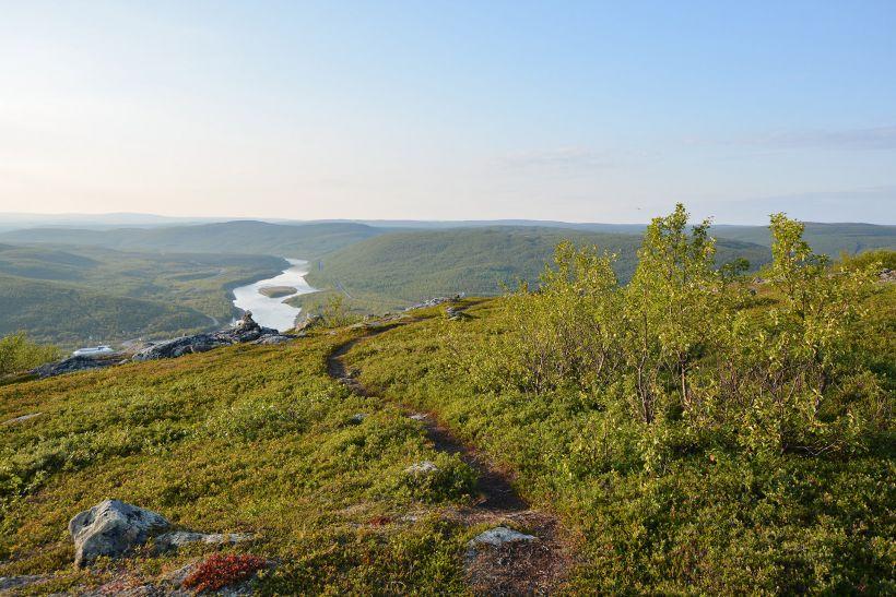 Ailigas Fell in Utsjoki, Lapland, Finland
