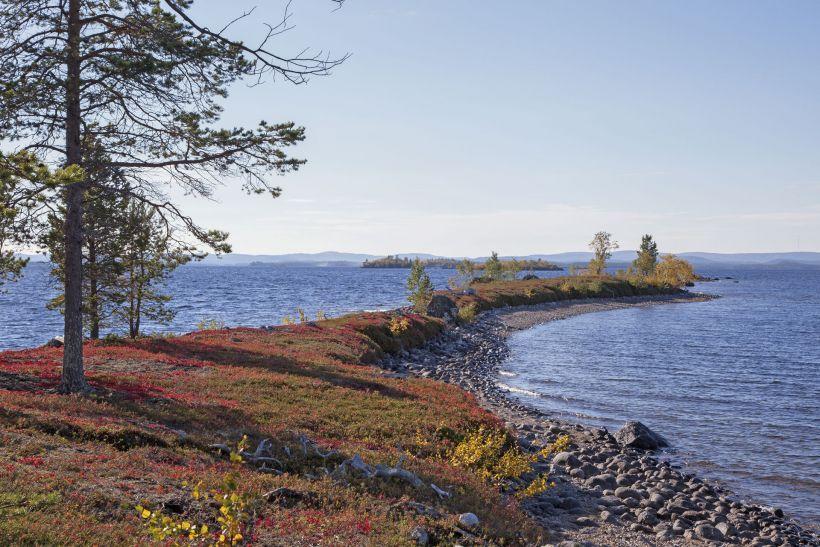 Lake Inari in Lapland, Finland