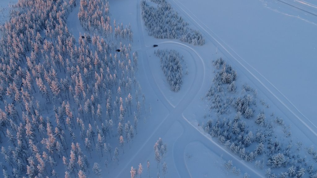 The testing track is located near Airport Sodankylä.