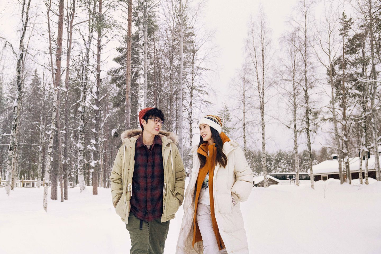 Angelababy and Hongchi Lee in I Remember, in Lapland, Finland