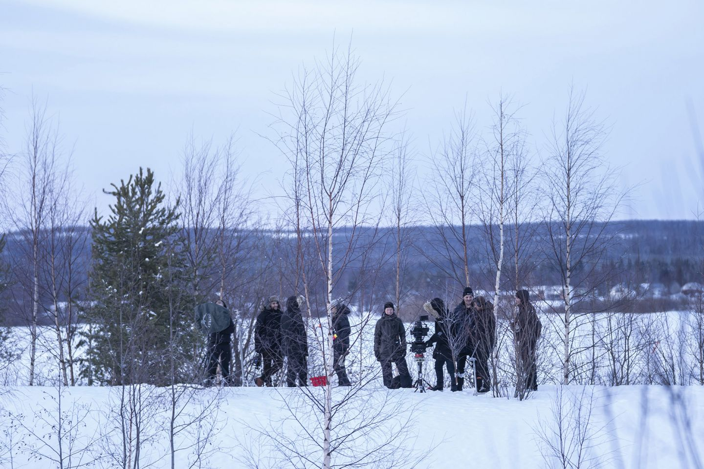 On the set of I Remember in Finnish Lapland