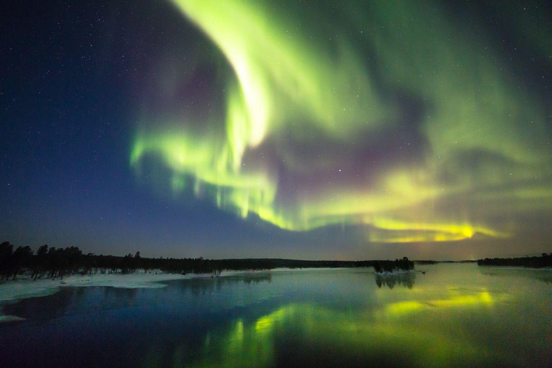 Northern lights in Inari, Lapland, Finland