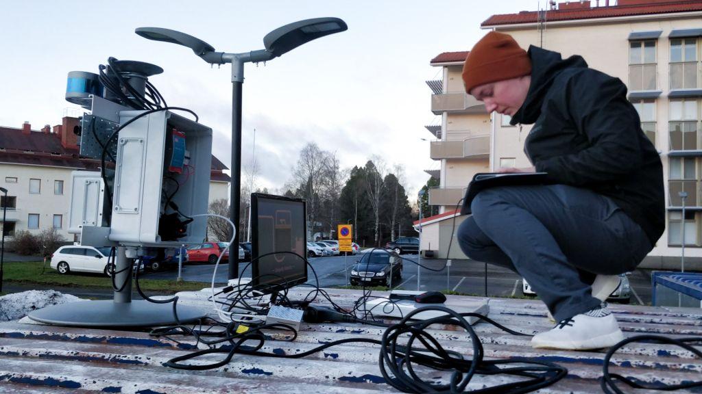 Lapin ammattikorkeakoulun WinterSim-hankkeen Rovaniemen kiinteä mittausasema