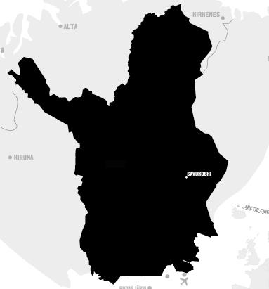 savukoski lapland destination map