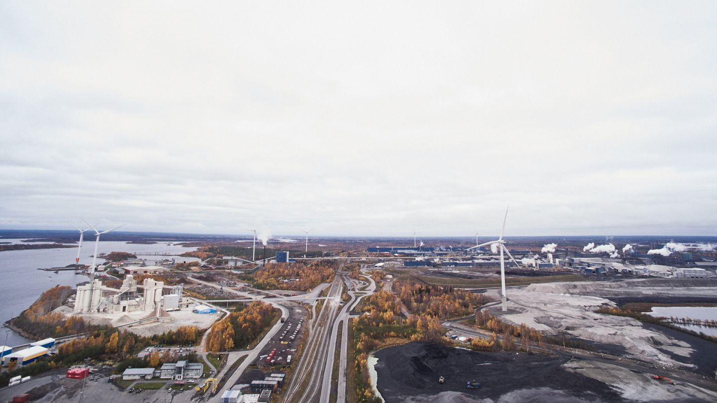 Aerial view from Tornio