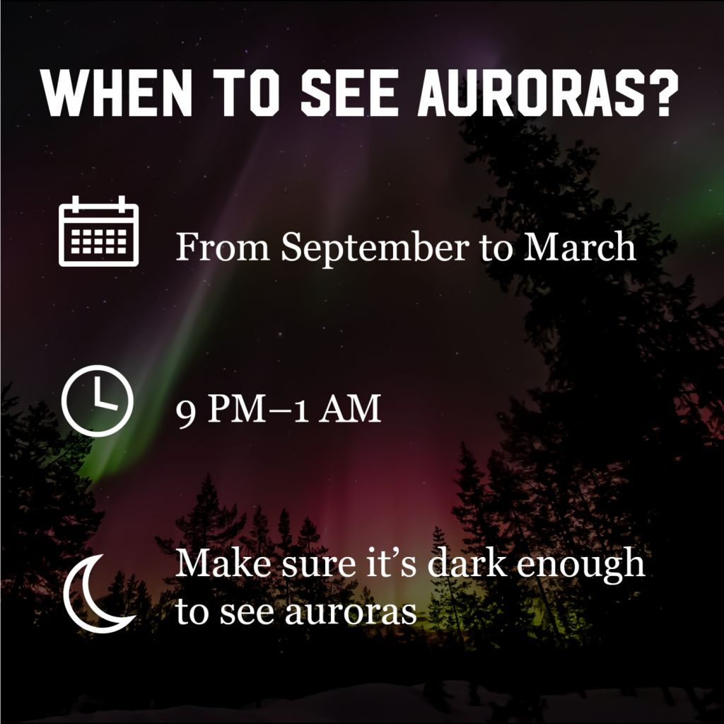 When can you see auroras?