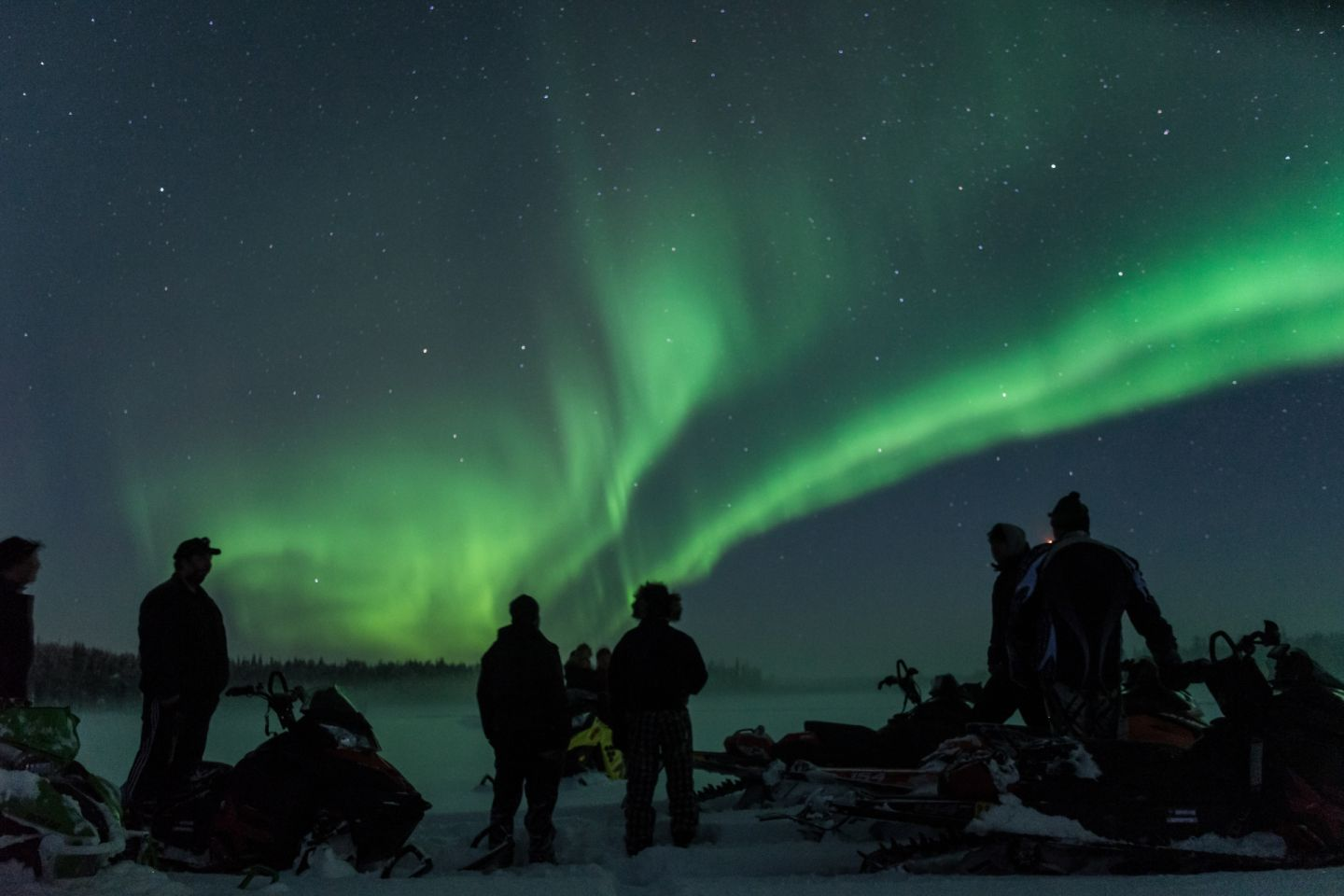 Watching the auroras with Arctic Circle Safaris in Salla, northern Finland
