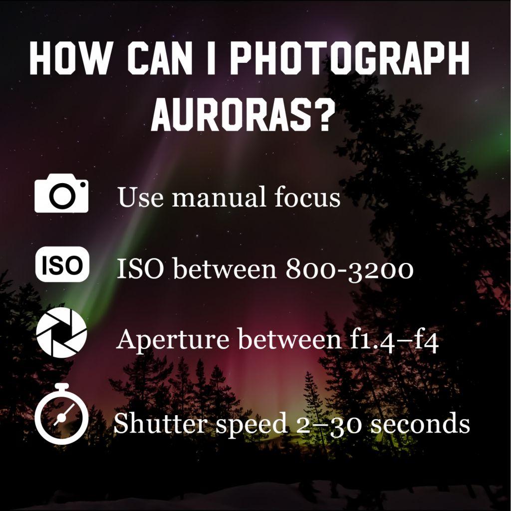 How do you photograph auroras?
