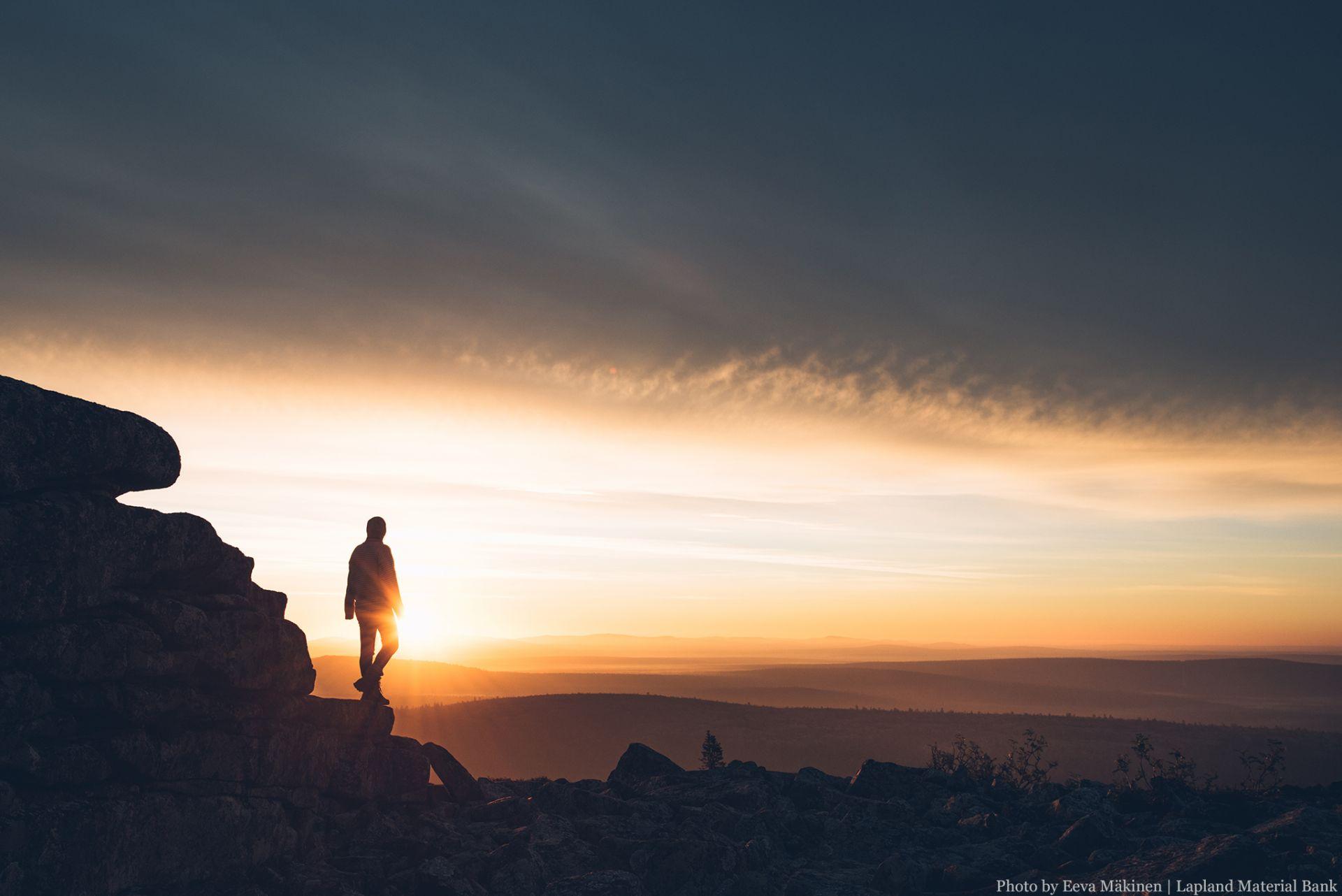 Under the Midnight Sun in Lapland Finland