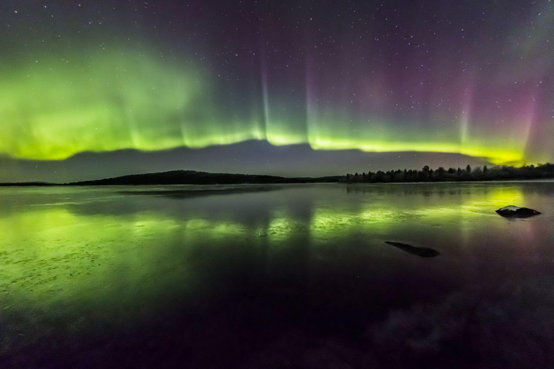 The Northern Lights over Inari-Saariselkä, in Finnish Lapland