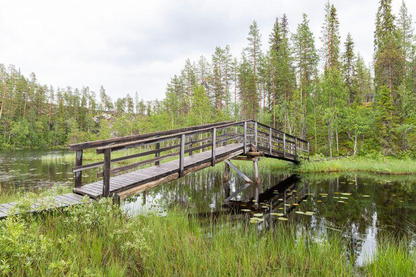 Lake Kalliojärvi in Salla, Lapland, Finland