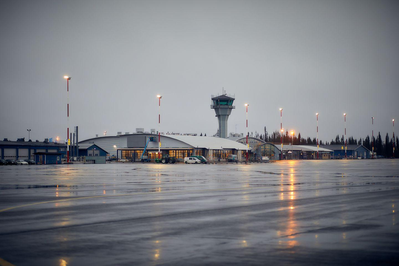 Kittilä Airport in Lapland, Finland