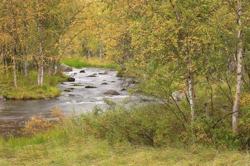 Äkäsjoki River in Kolari, Lapland, Finlad