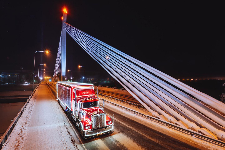 Lumberjack's Candle Bridge in Rovaniemi, Lapland, Finland