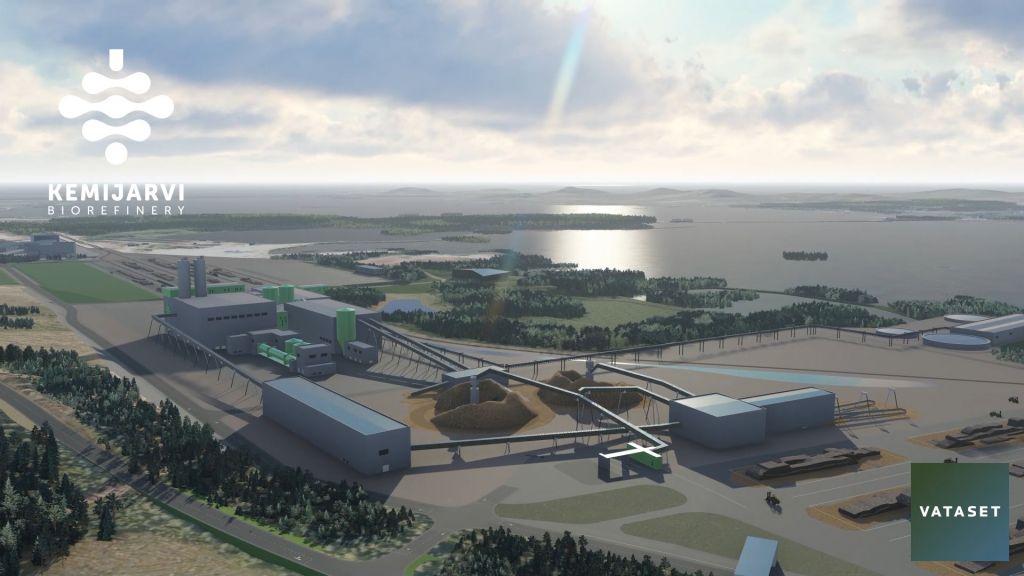 A digital picture of the planned bioeconomy factory by Vataset Teollisuus in Kemijärvi