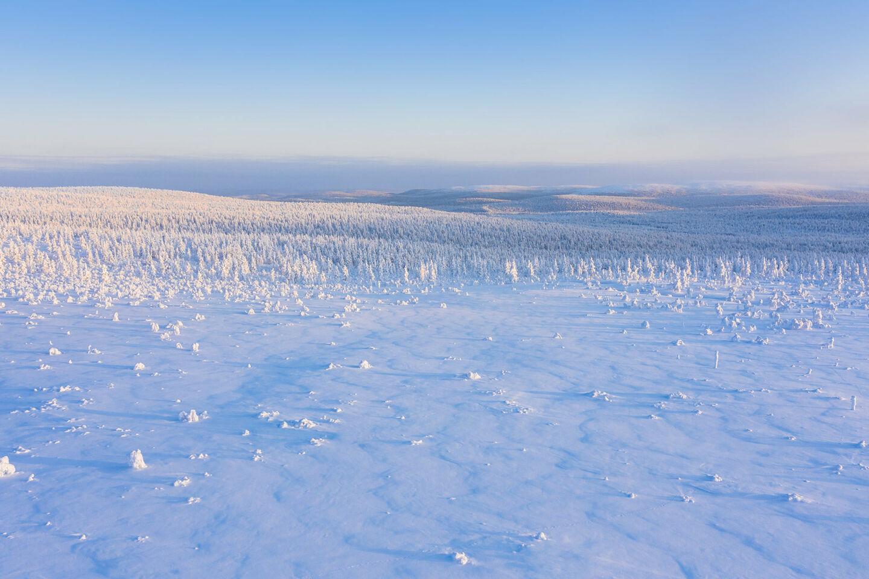 Urupää Fell in Inari, Lapland, Finland