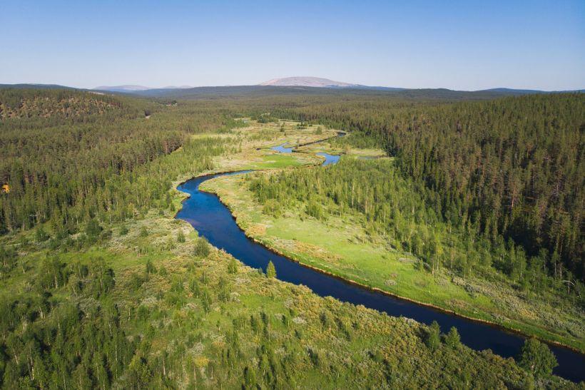 Äkäsjoki in Kolari, Lapland, Finlad
