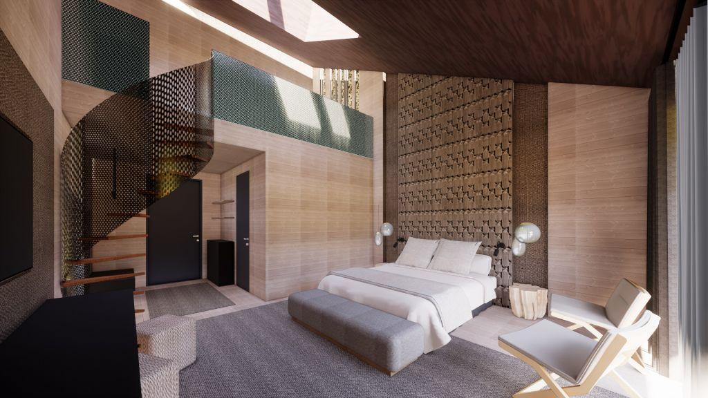 Hotel room Äkäslompolo Log Hotel