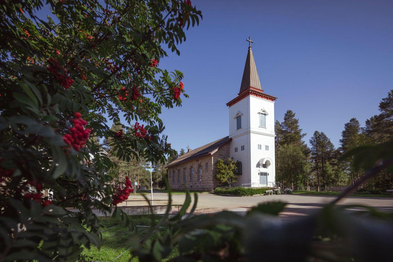 The church in Sodankylä, Finland