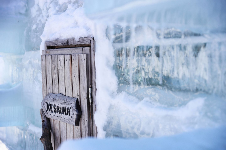 The Ice Sauna in Ruka, Finland