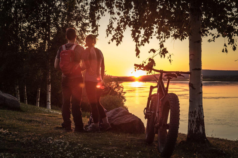 Chilling on the beach in Rovaniemi, Finland