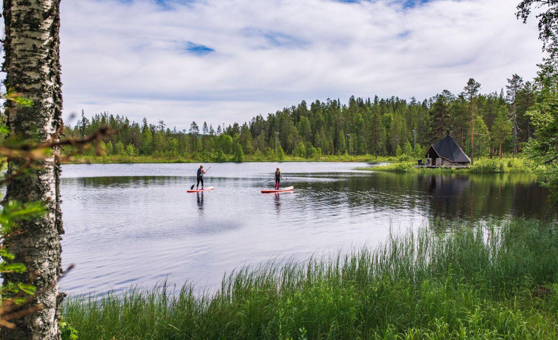 SUP boarding in Salla, Finland
