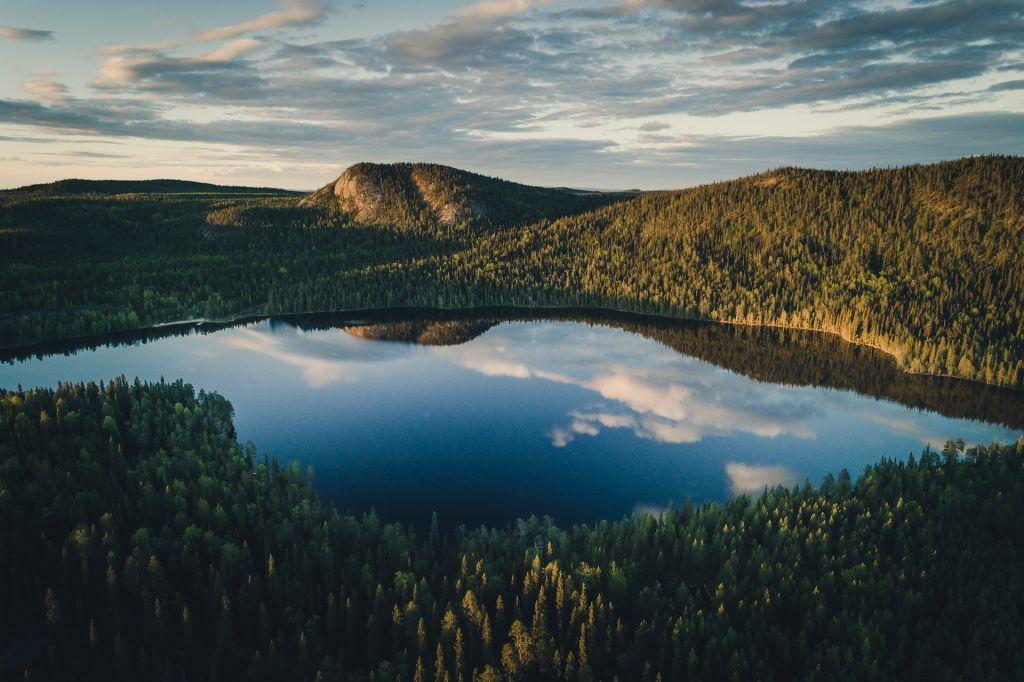 Wilderness location in Finnish Lapland