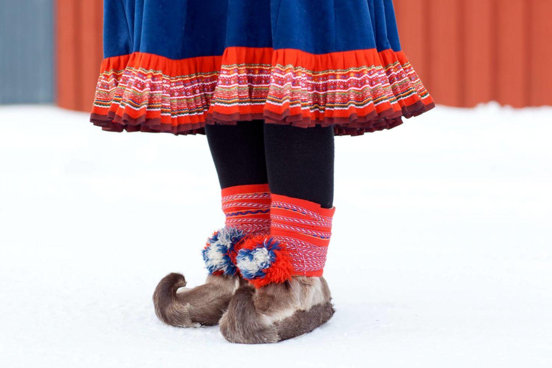 Sámi reindeer fur boots from Finnish Lapland