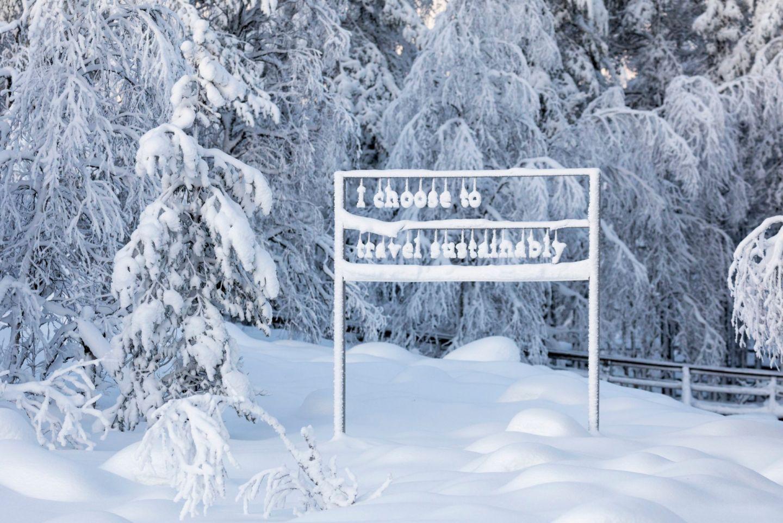 Sustainability art exhibit at the Ranua Zoo in Finnish Lapland