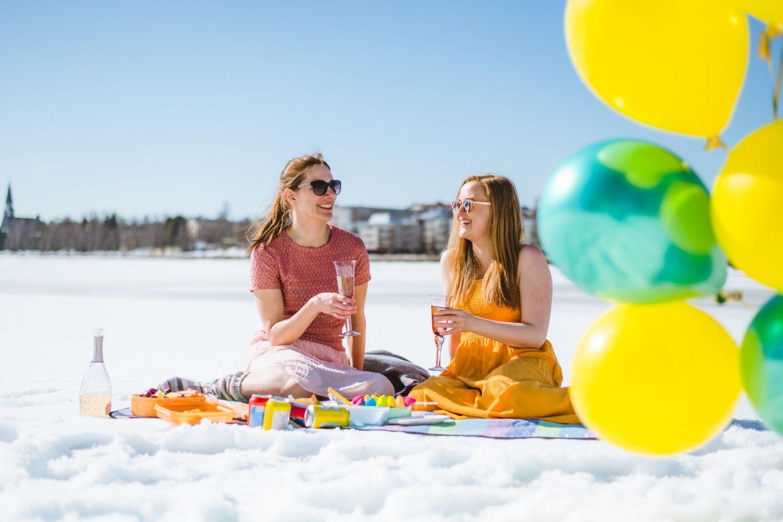 Alternative spring beach holiday in Rovaniemi, Finland