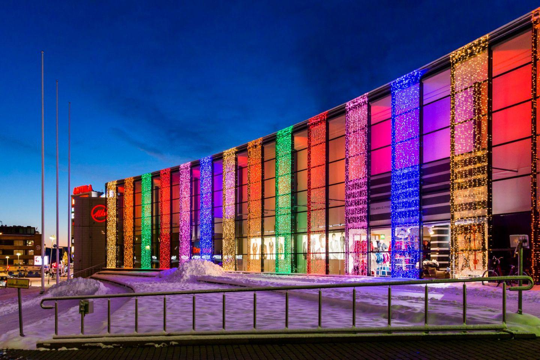 The Revontuli shopping center in Rovaniemi, Finland