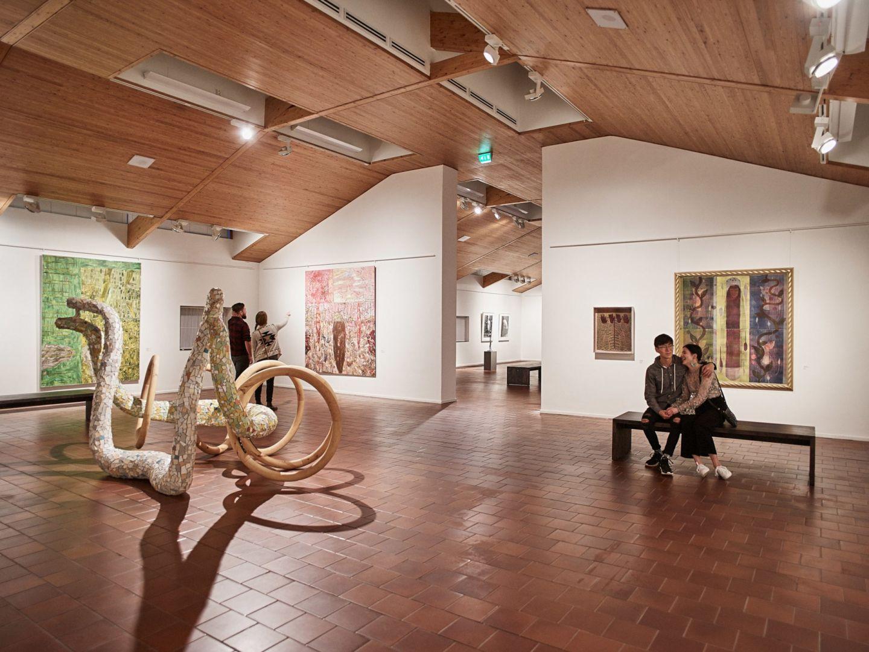 Exhibits at Korundi House of Culture in Rovaniemi, Finland
