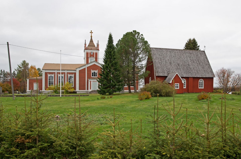 The church in Tervola, Rovaniemi, Finland