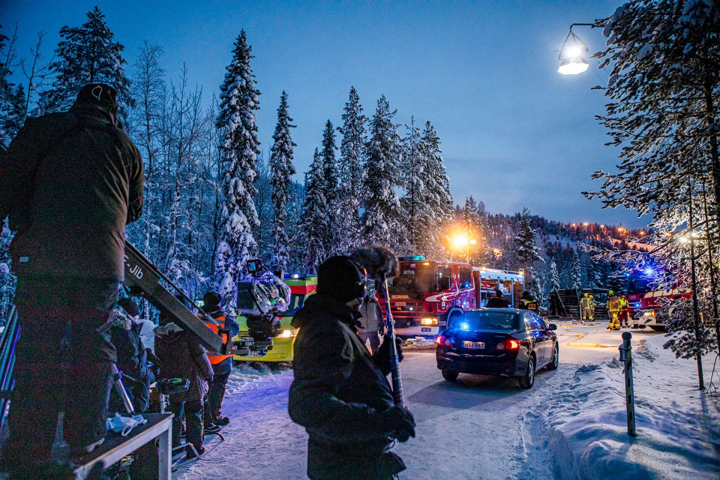 Filming the second season of Arctic Circle in Finnish Lapland
