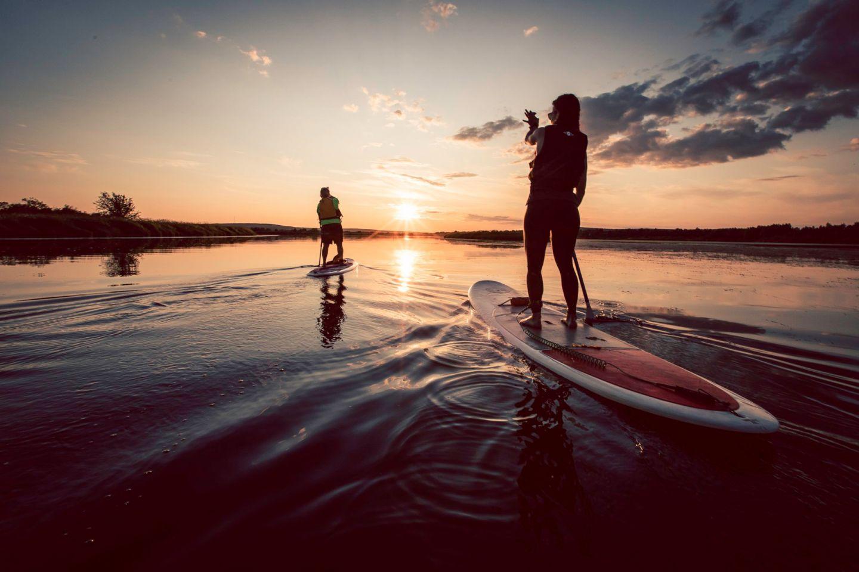 SUP boarding in Rovaniemi, Finland