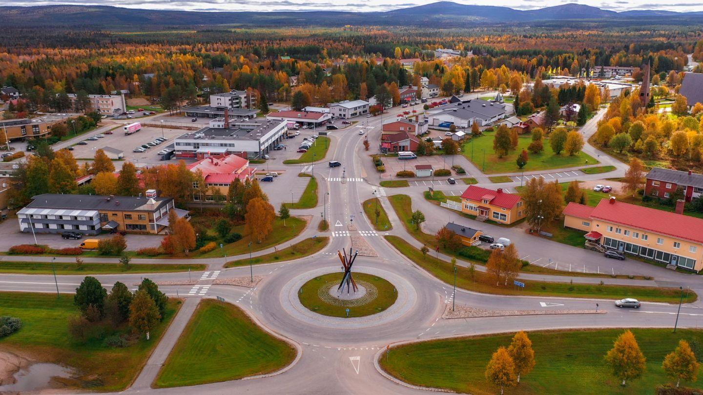 Downtown Salla, Finland in Autumn