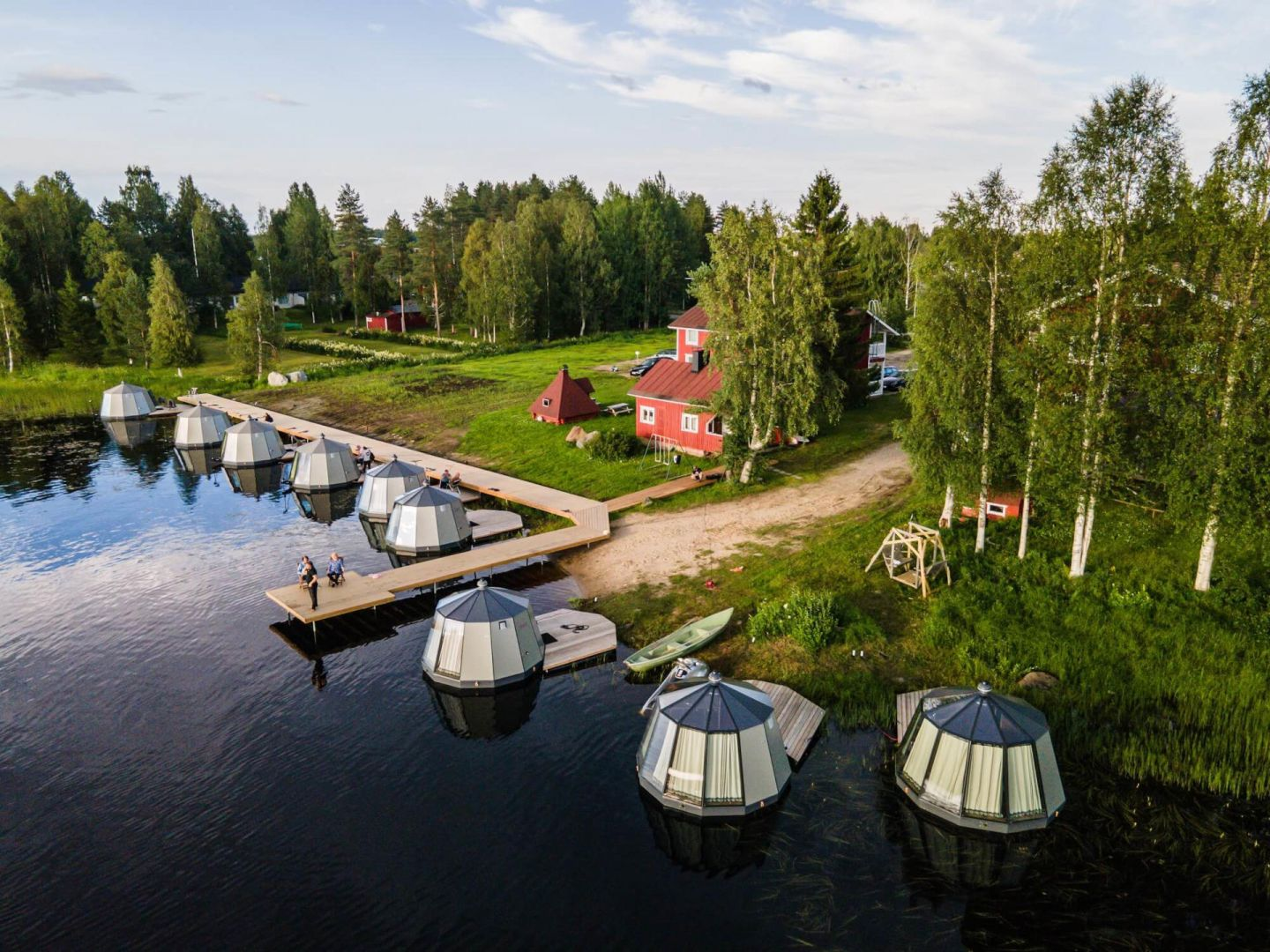 Arctic Guesthouse & Igloos in Ranua, Finland, a special summer accommodation in Lapland