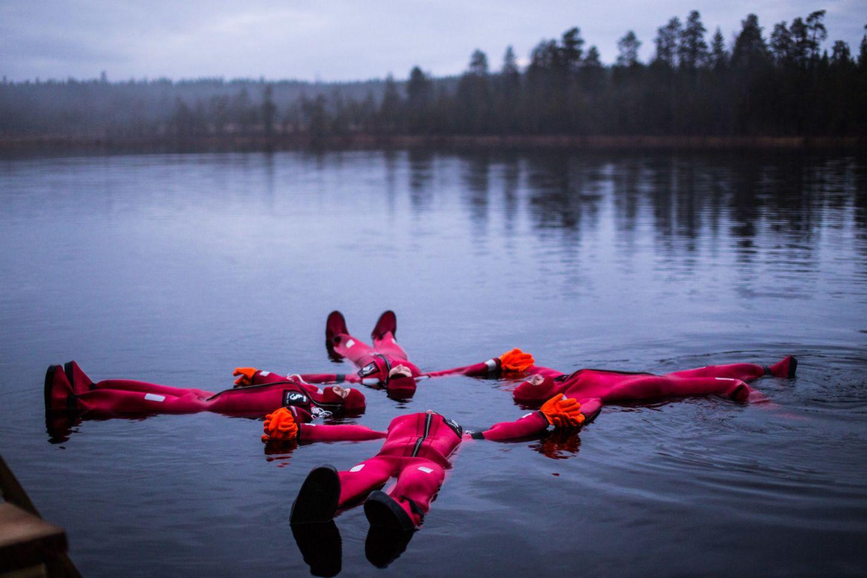 River floating in Rovaniemi, Finland