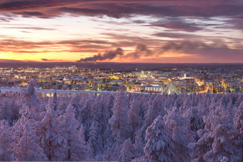 The skyline of Rovaniemi, Finland