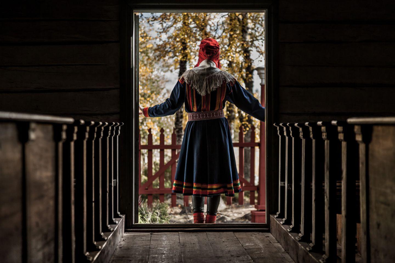 Inside a Sámi church in Finnish Lapland