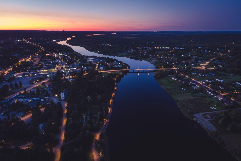 Night falls over Sodankylä, Finland
