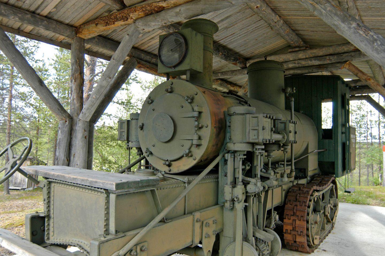 The old Savotta logging train in Savukoski, Finland