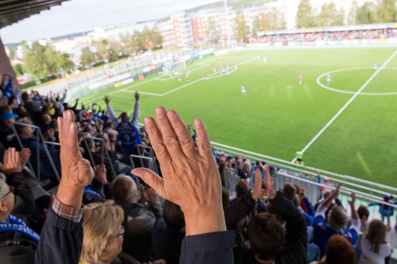 A football (soccer) game in Rovaniemi, Finland